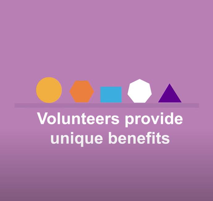 volunteers provide unique benefits